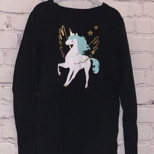 Long sleeved black unicorn shirt